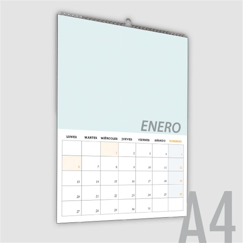 Calendario Din A4.Molero Print Impresion Digital Offset Diseno Grafico